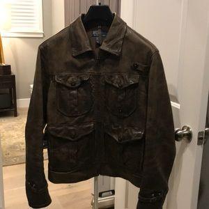 1c1bc36ed546 Polo by Ralph Lauren Jackets   Coats - Polo Ralph Lauren Newsboy leather  jacket